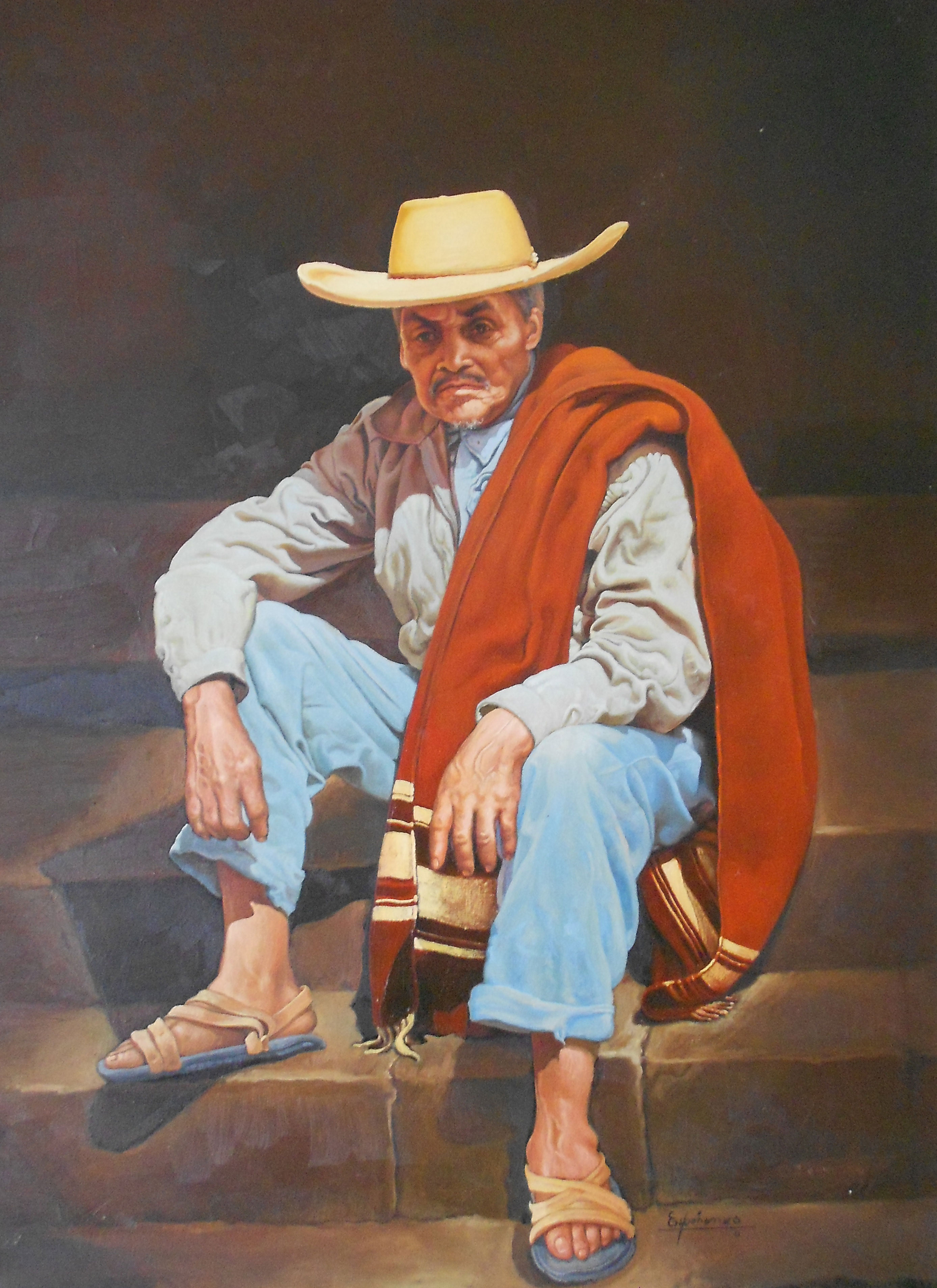 Old Man From Ameca 1969 30x24
