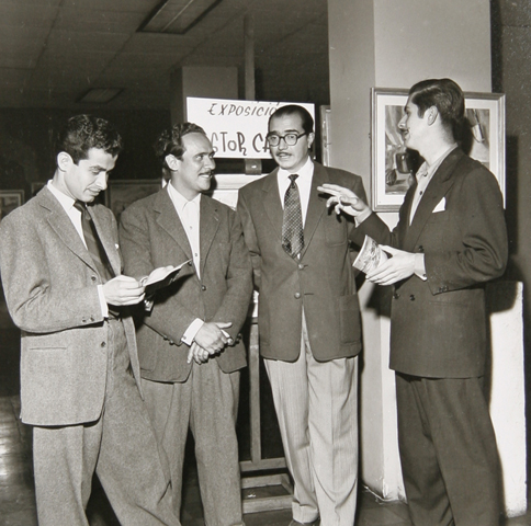 Leo With Botero, Carpena And  Arboleda 1945
