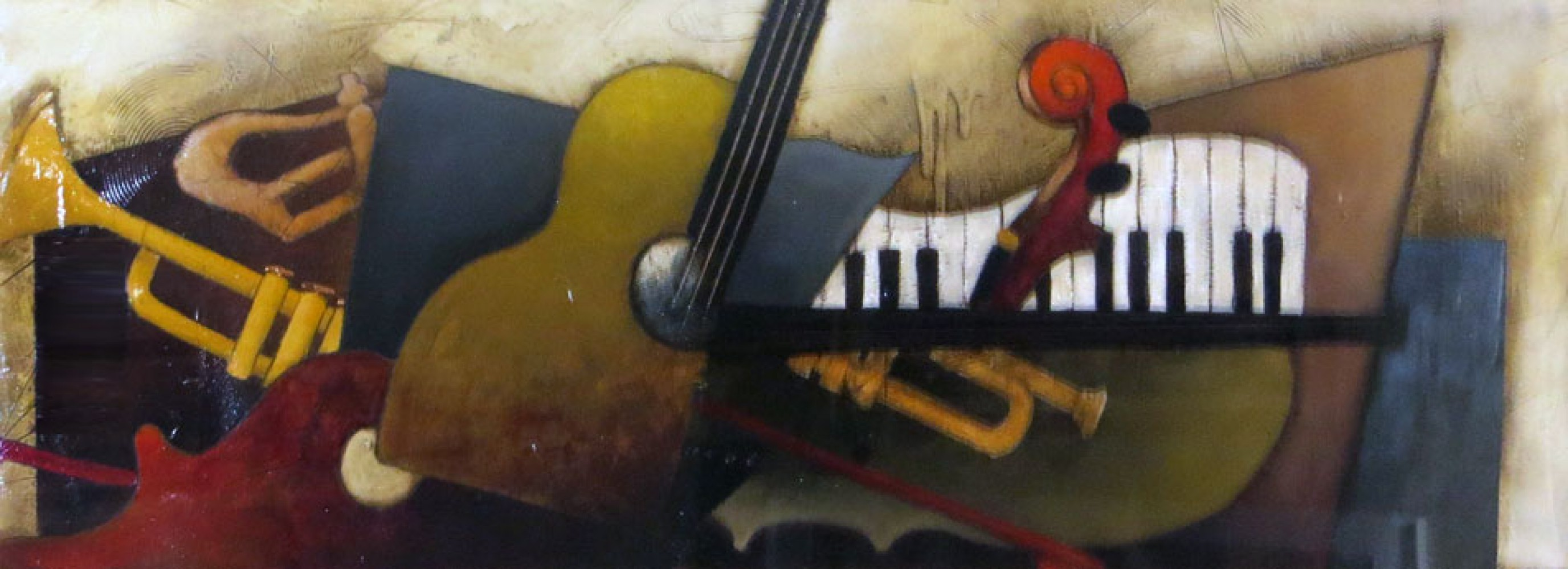 Orchestration 1999 39x73 by Emanuel Mattini
