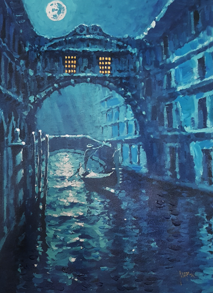 Blue Moon Over Venice Embellished AP 2006