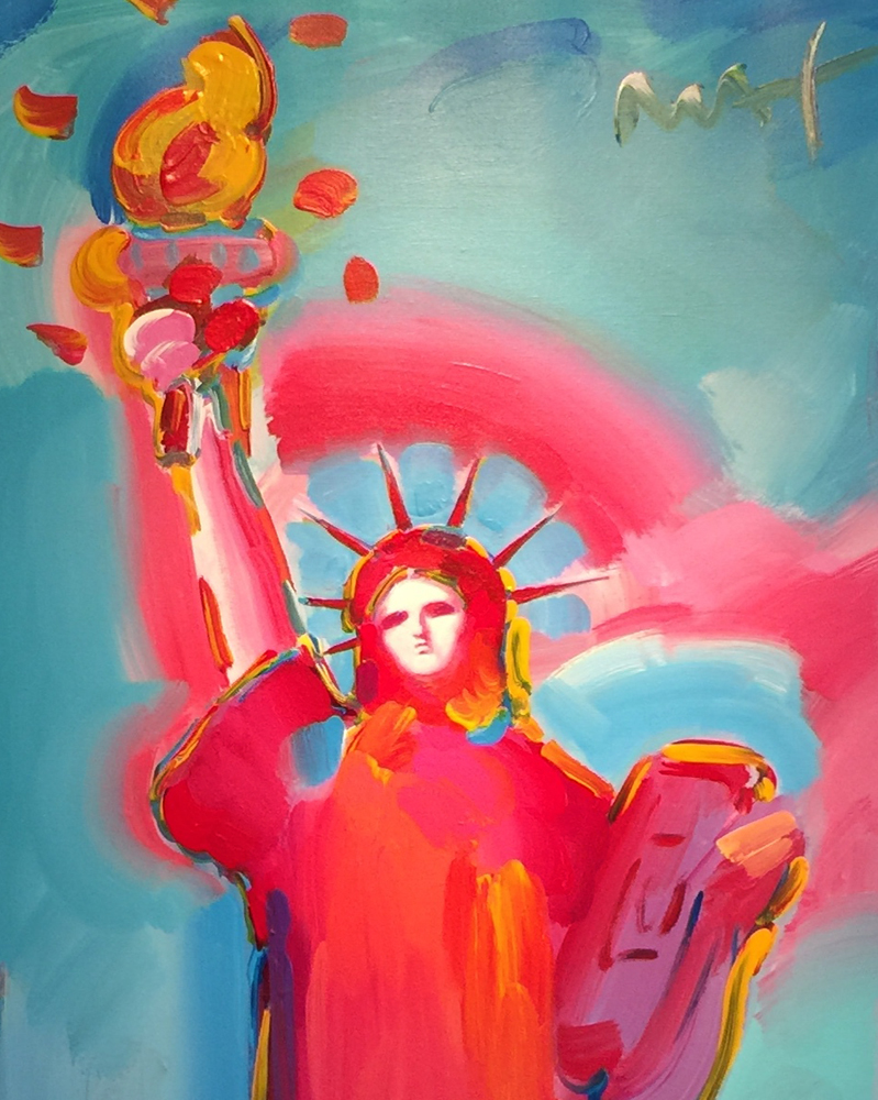 Statue of Liberty Unique 2006 36x60 by Peter Max