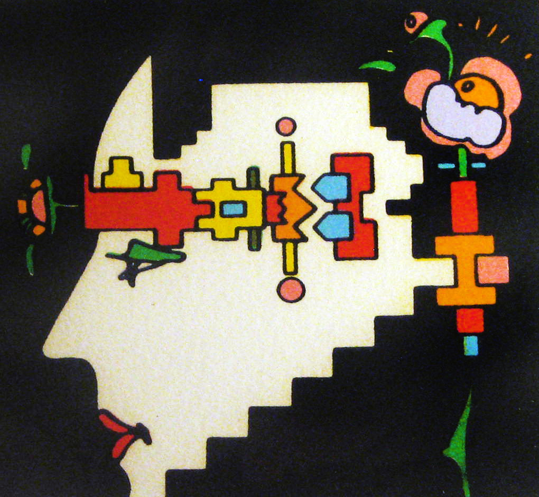 Geometric Man 1973 by Peter Max