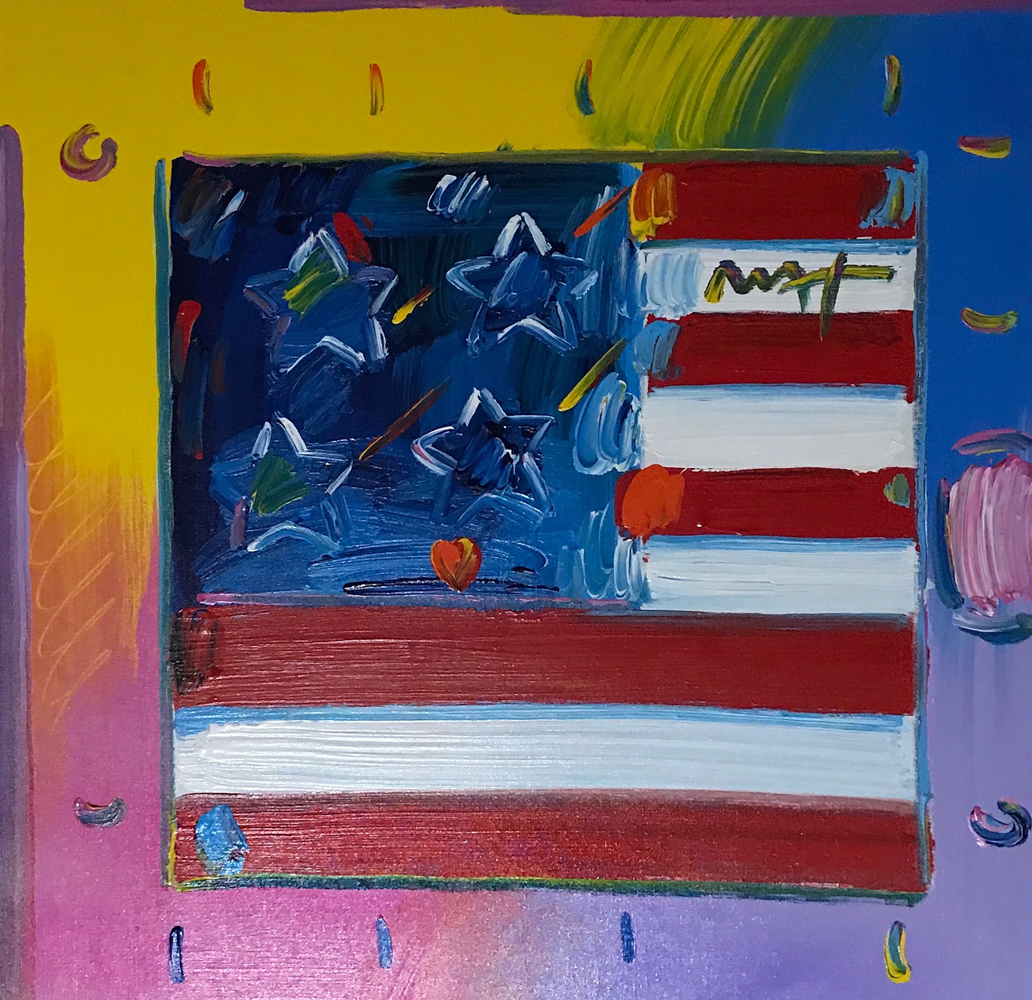 Flag With Heart 2008 36x36