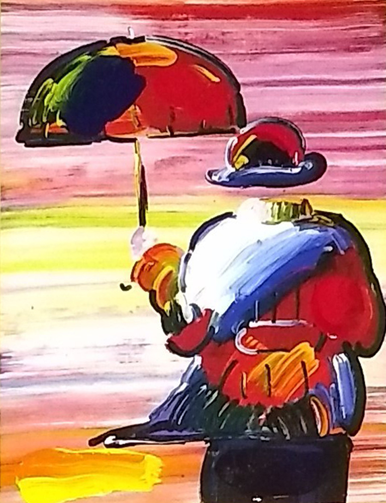 Umbrella Man on Blends Unique 2005 26x24