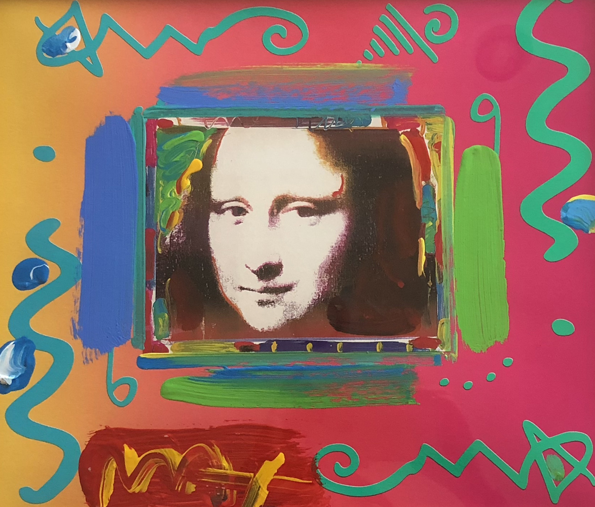 Mona Lisa Collage Unique 1997 21x23