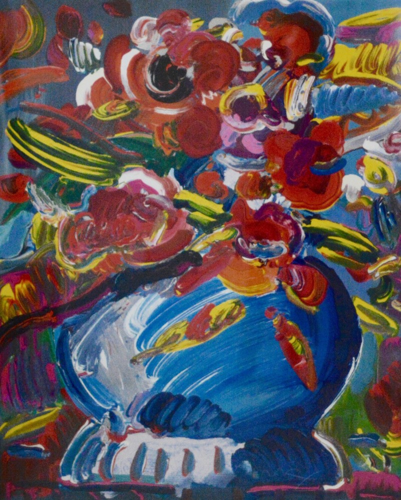 Flowers in a Blue Vase 1992
