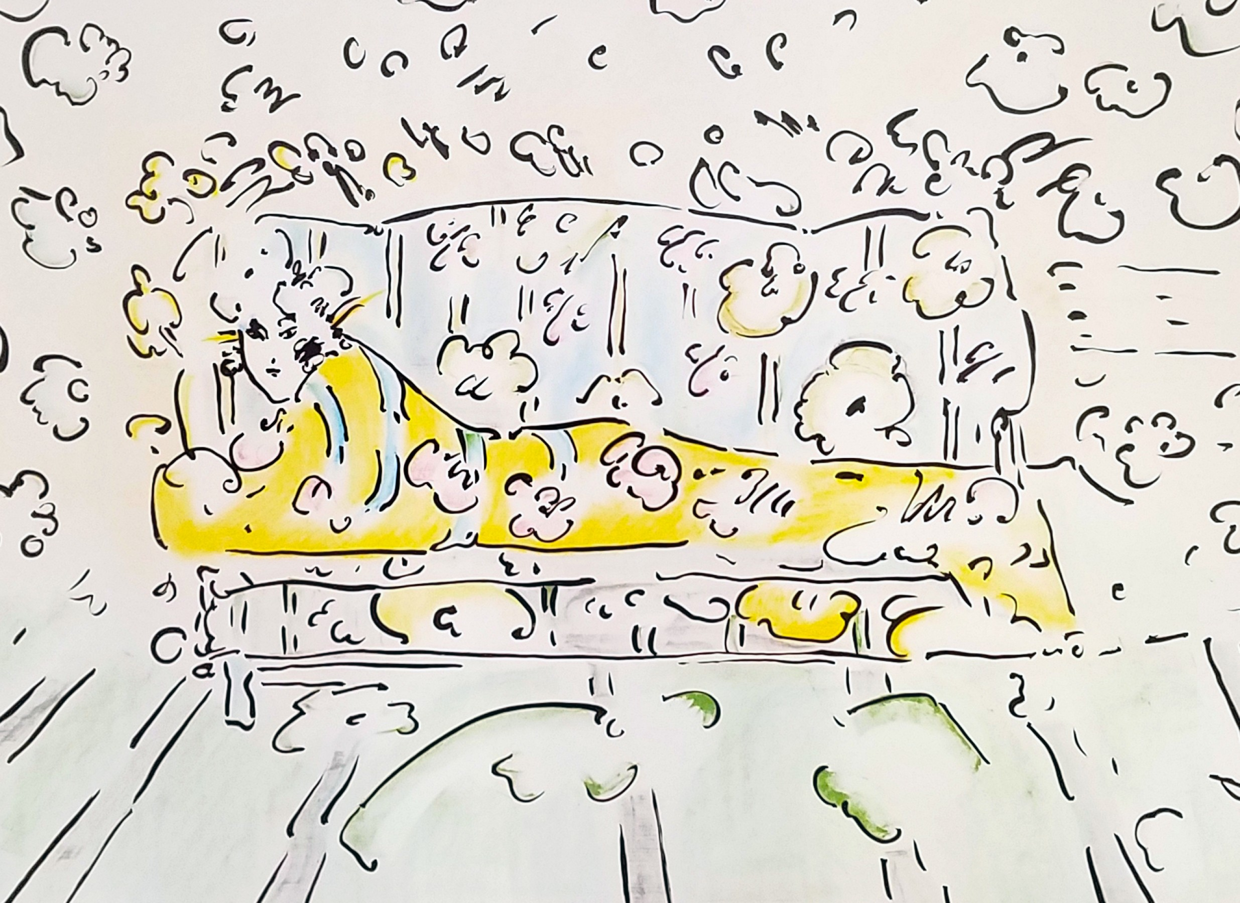Lady on Couch (Yellow) 1973