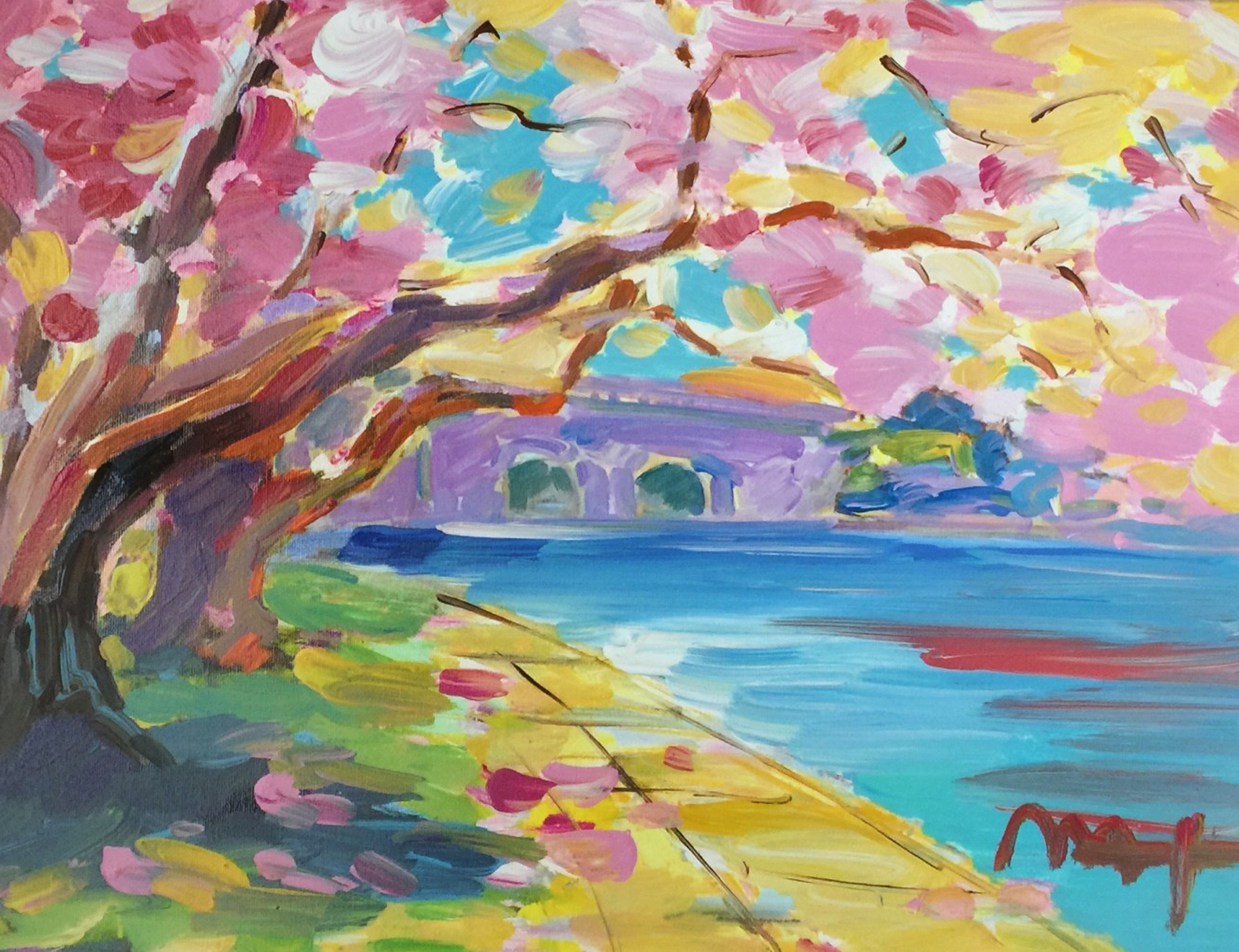 Cherry Blossom  Unique 25x29