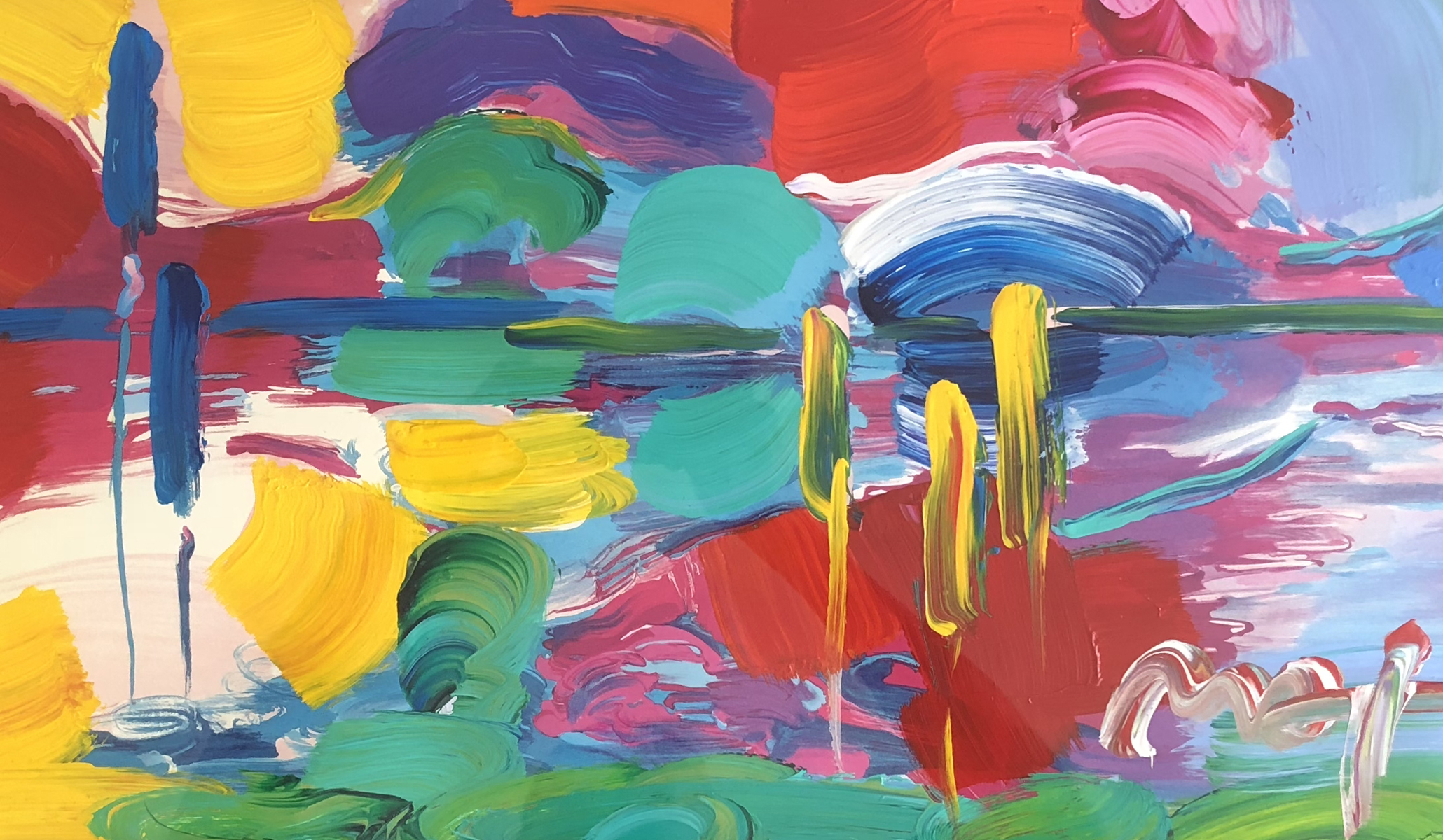 Four Seasons Series: Summer - Autumn Unique 2007 27x45 by Peter Max