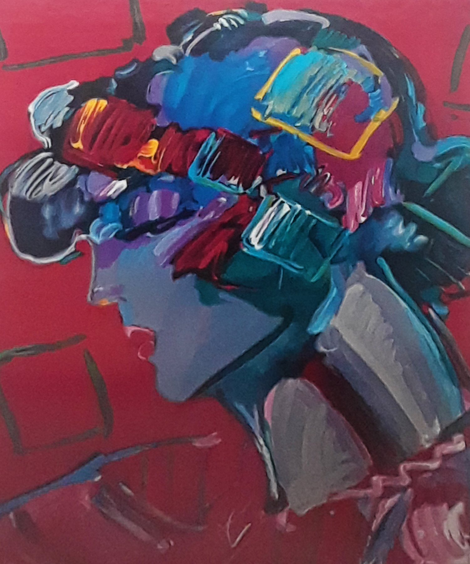 Crimson Lady 1987 by Peter Max