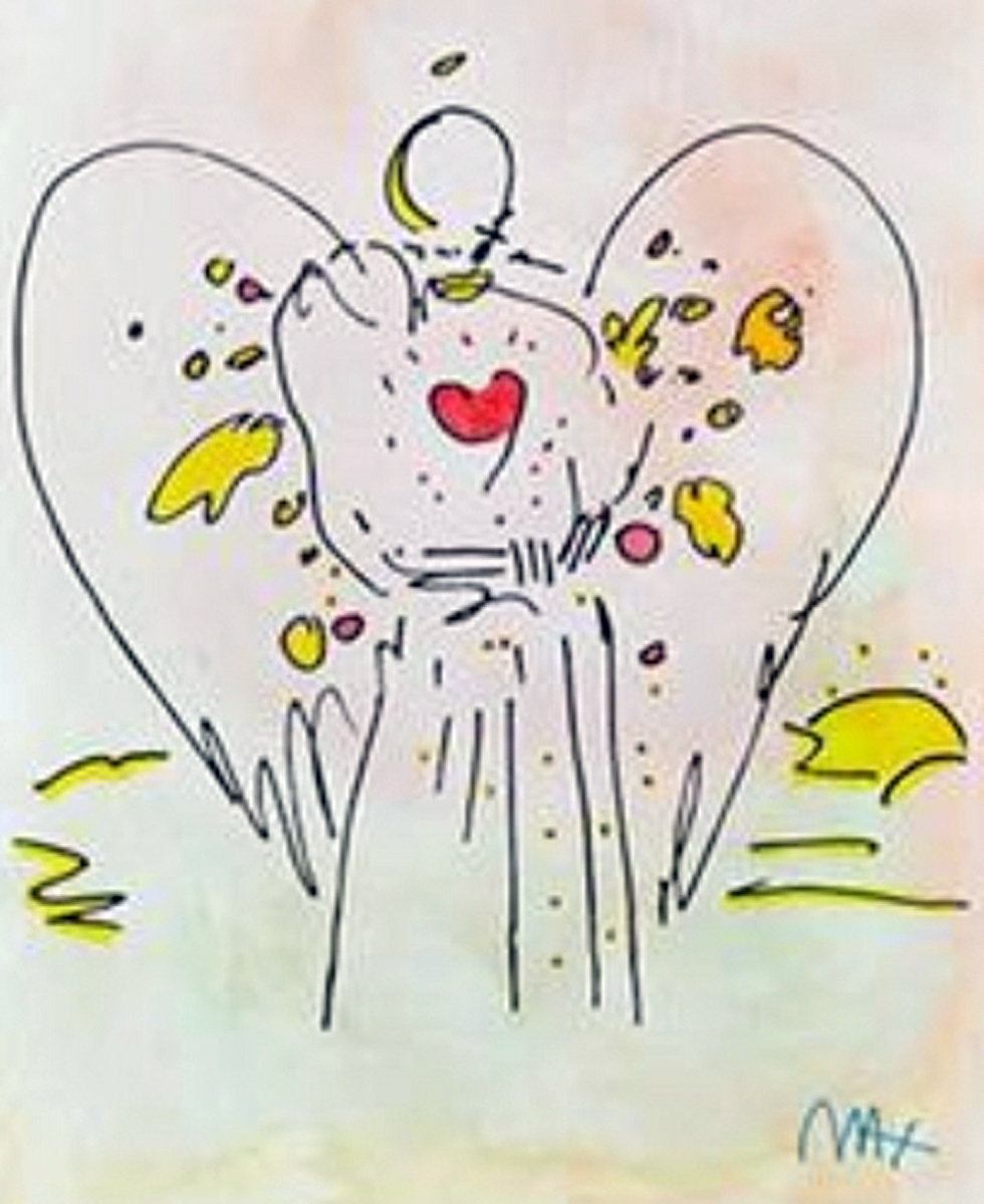 Angel With a Heart  Watercolor 1999 25x21
