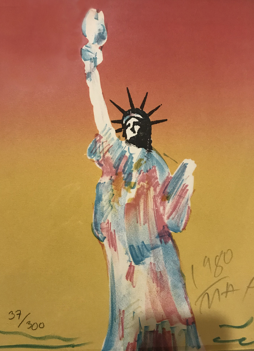 Statue of Liberty (Dark Orange And Dark Yellow) 1980