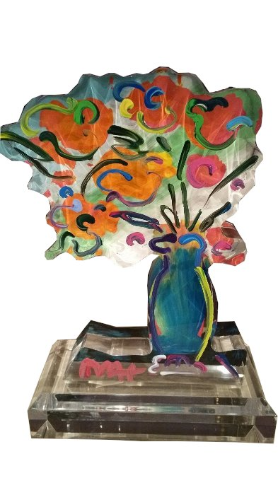Vase of Flowers - Ver. III 2014 12 in by Peter Max