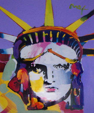 Peter Max Delta 2002 Unique 44x48