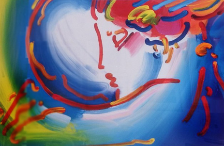 I Love the World Unique 2004 by Peter Max