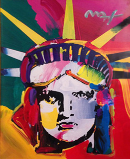 Liberty Head Delta 42x36 by Peter Max