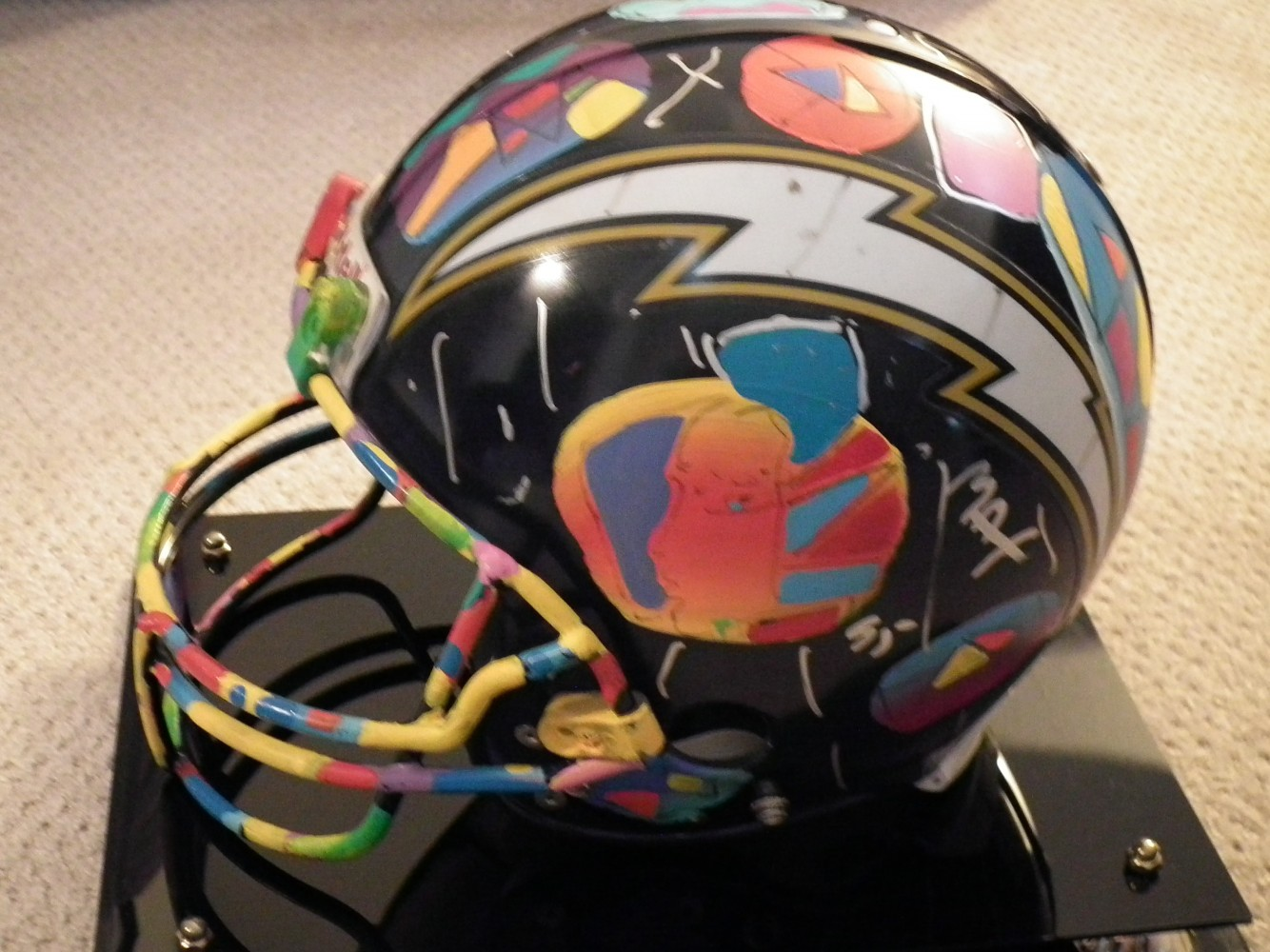 San Diego Charger's Football Helmet 1995