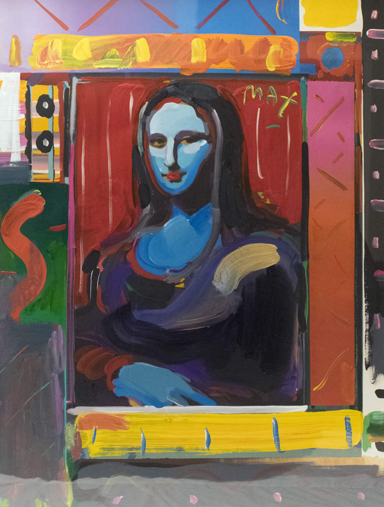 Mona Lisa 1991 48x60 by Peter Max