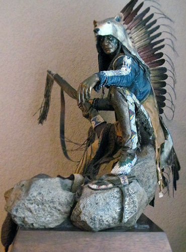 Rainmaker Bronze Sculpture 1997 30 in