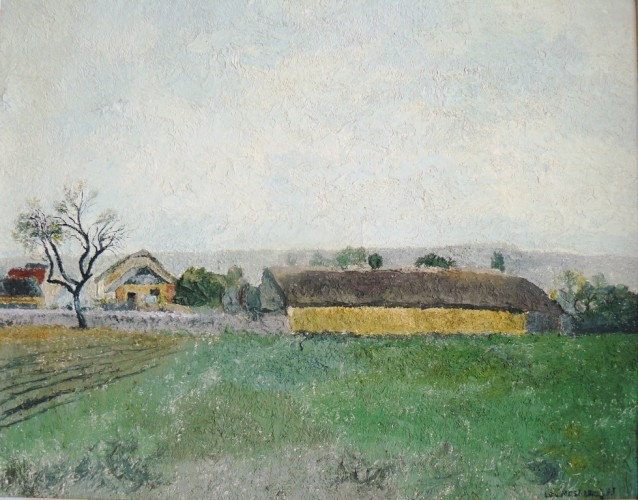 Burgundy Countryside 1993 18x22