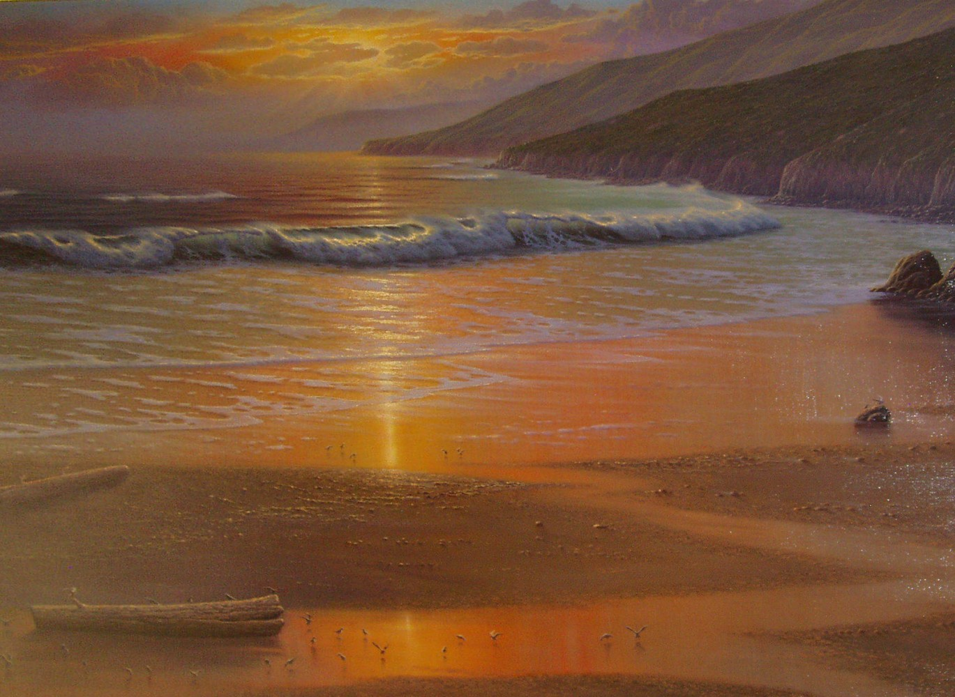 Golden Hue At Low Tide 1984 69x45