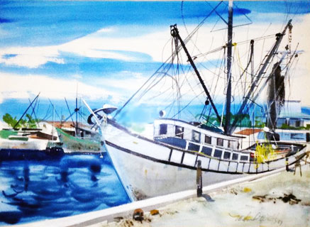 # 1 Key West Shrimp Boat, Florida 1967 17x23