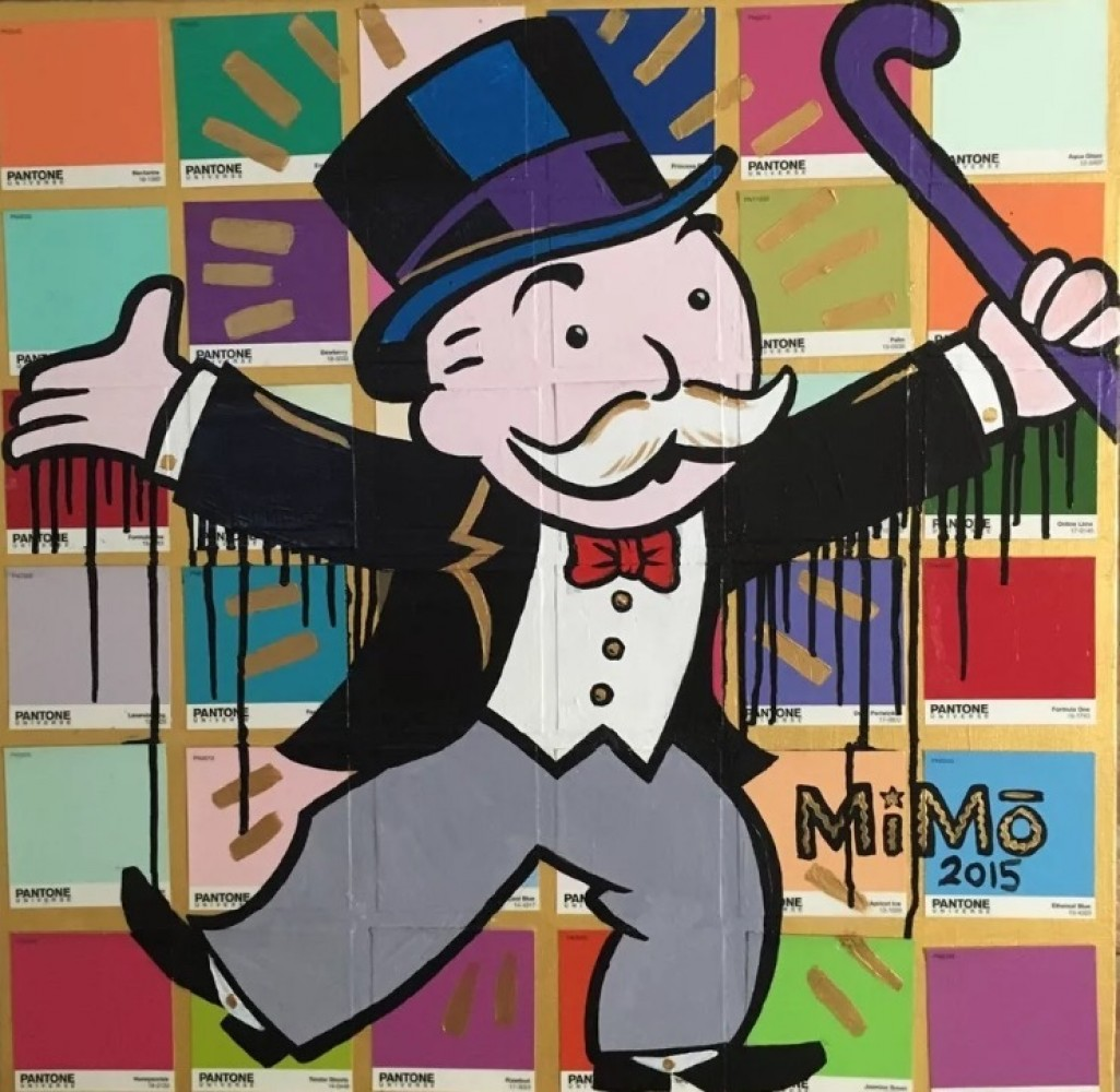 Untitled Monopoly Man 2015 24x24