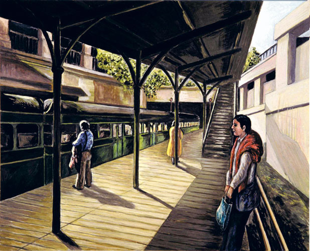 Old Sarria Station 2001 24x19