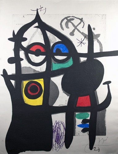 La Captive 1969 by Joan Miro