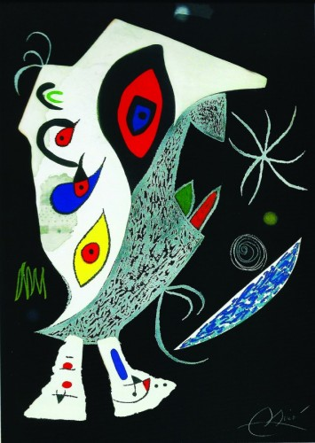 Barbarian in the Night 1976 by Joan Miro