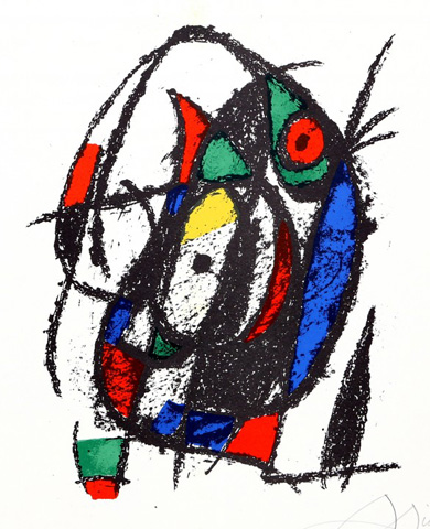 Lithographs II (M 1044) 1975 by Joan Miro