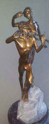 Violinist Bronze Sculpture 1999 26 in