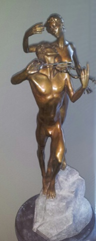Violinist Bronze Sculpture 1998 27 in