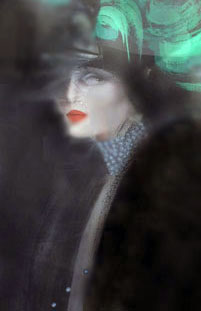 Woman with Green Hat 1984