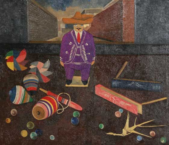 Man With Toys 20x24