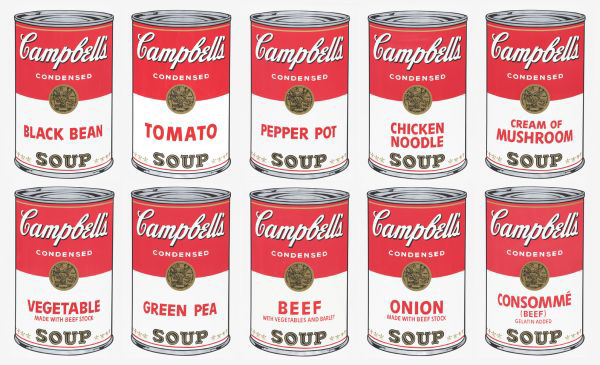 Campbells Soup Cans 1, Suite of 10 Screenprints