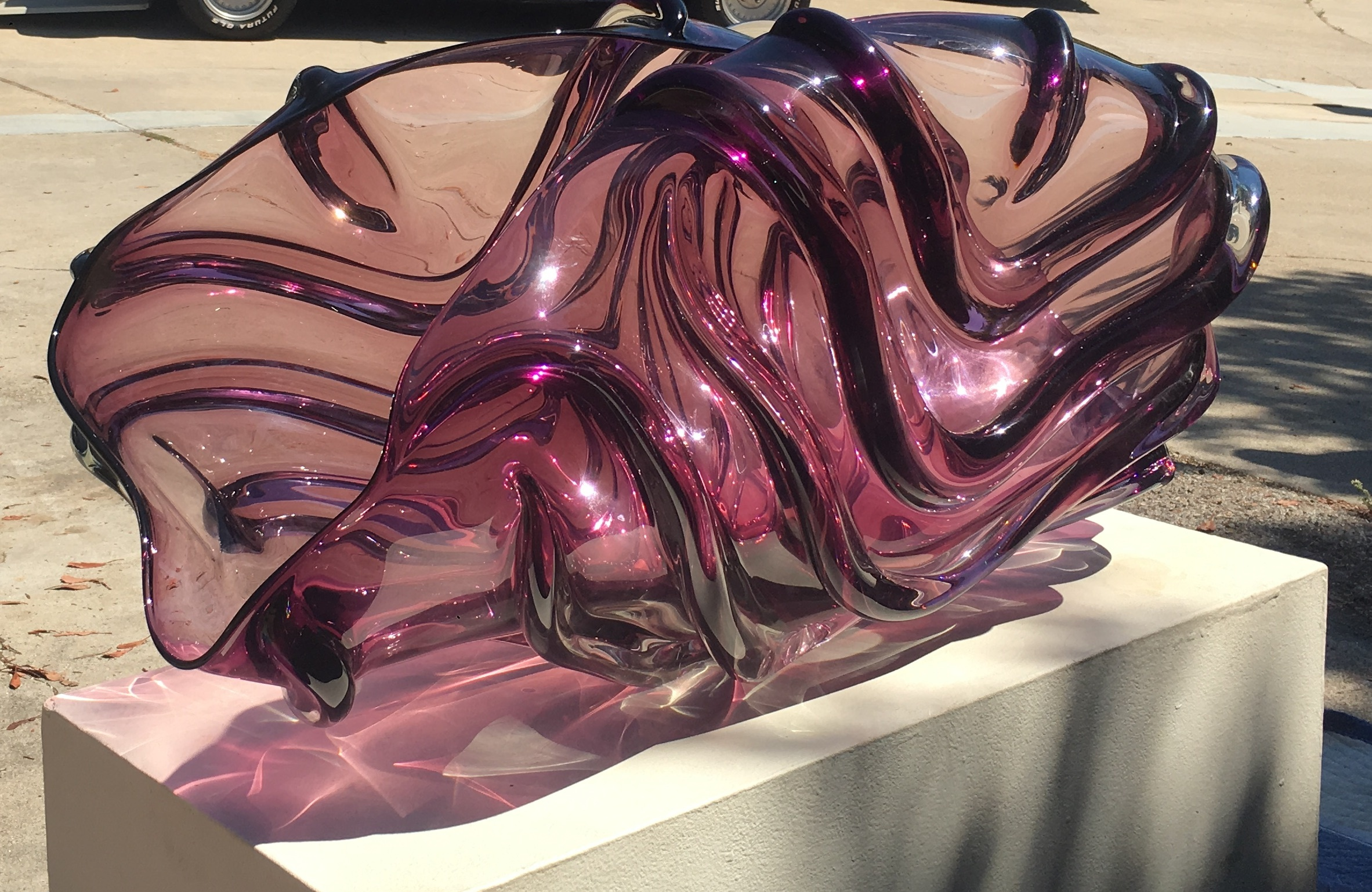 Rope Bowl Unique Glass Sculpture 1986