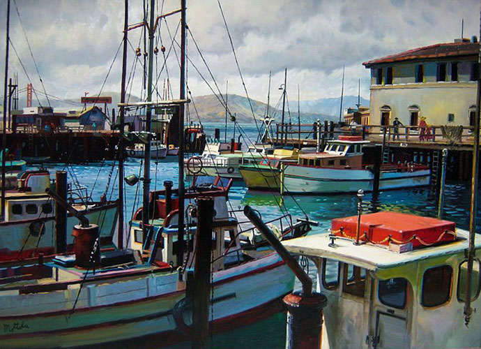 Fishermans Wharf, San Francisco 1968 18x24