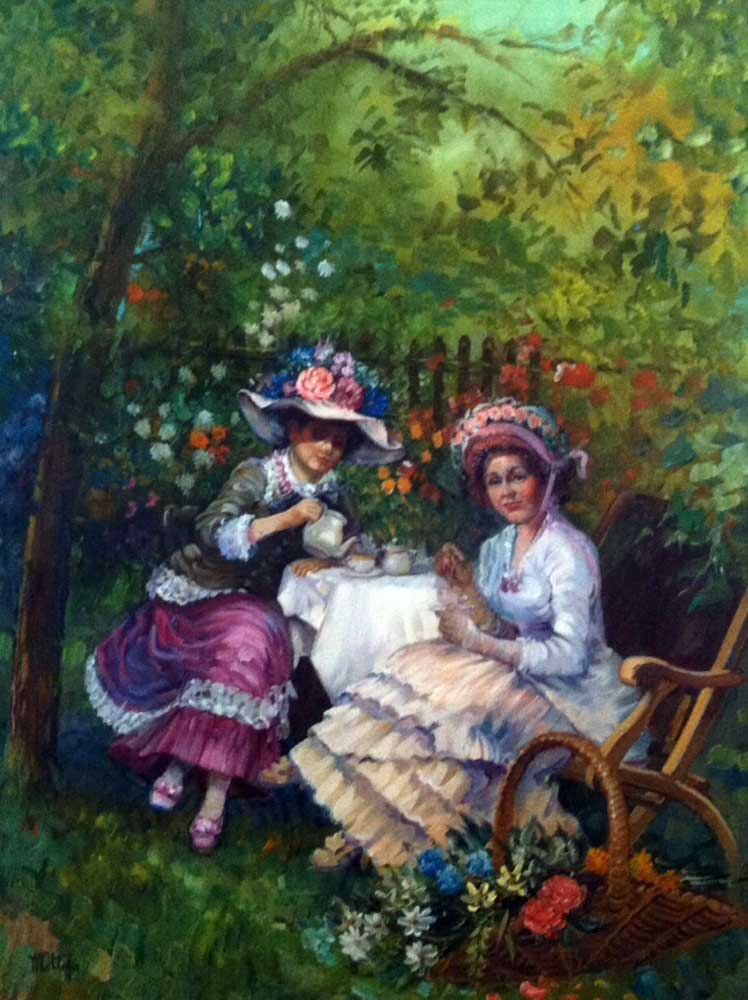Afternoon Tea 1960 45x35 by Fil Mottola