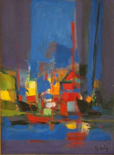 Untitled Harbor 1986 29x22