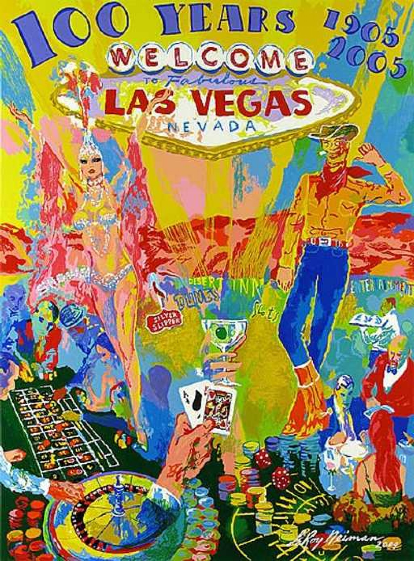 Celebrating 100 Years of Neon (Las Vegas Anniversary) 2005 HS by LeRoy Neiman