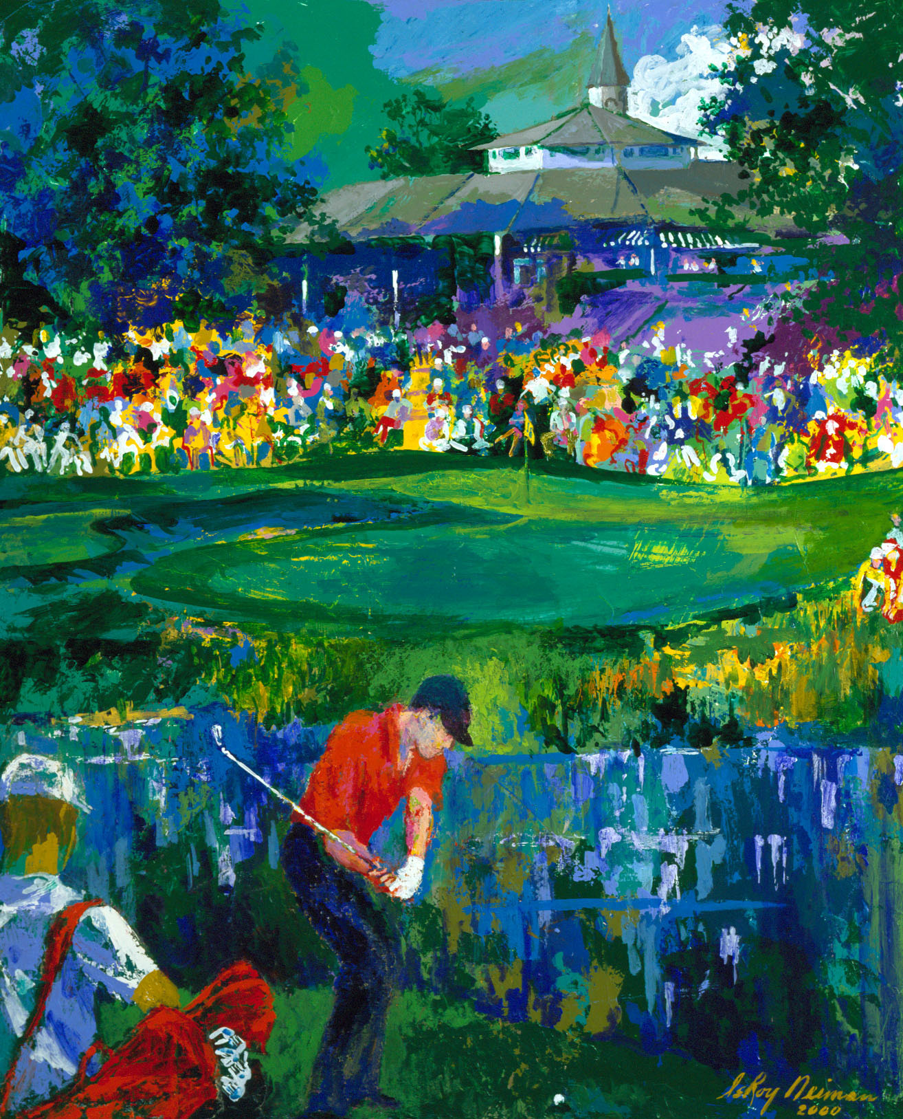 Valhalla  (Tiger Woods)  2000 by LeRoy Neiman