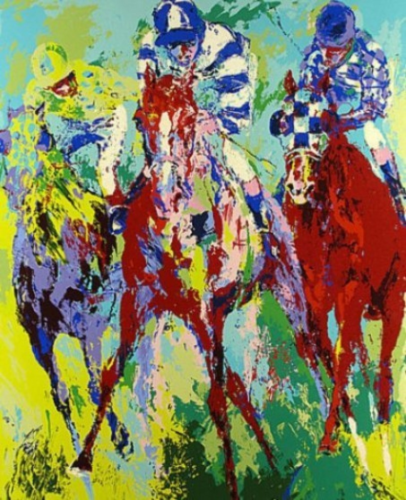 Finish 1975 by LeRoy Neiman