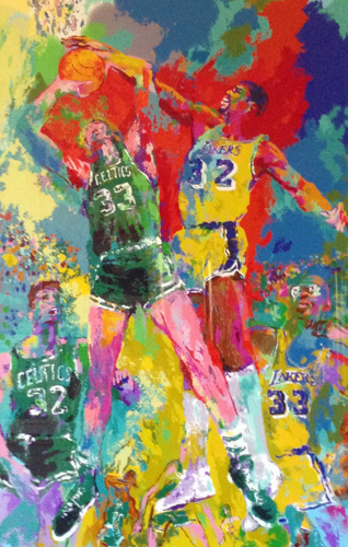 Magic Johnson, Celtics and Lakers (Larry Bird)