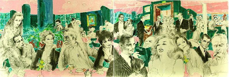 Polo Lounge,  Diptych 1989