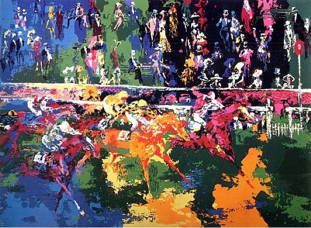 Ascot Finish 1974 by LeRoy Neiman