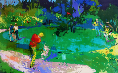 Golf Threesome 1980 by LeRoy Neiman