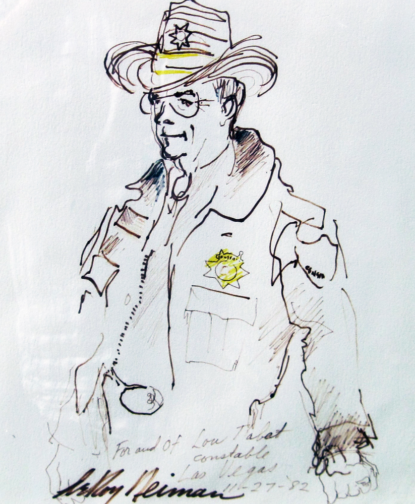 Constable Lou Tabat Drawing 1982 18x20