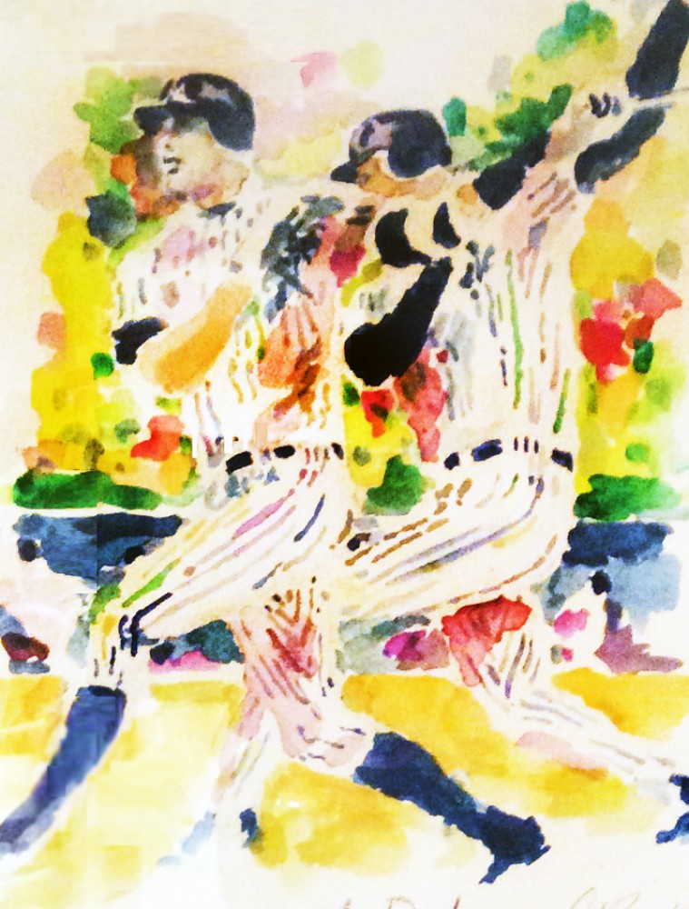 A-Rod Watercolor 2007 21x27