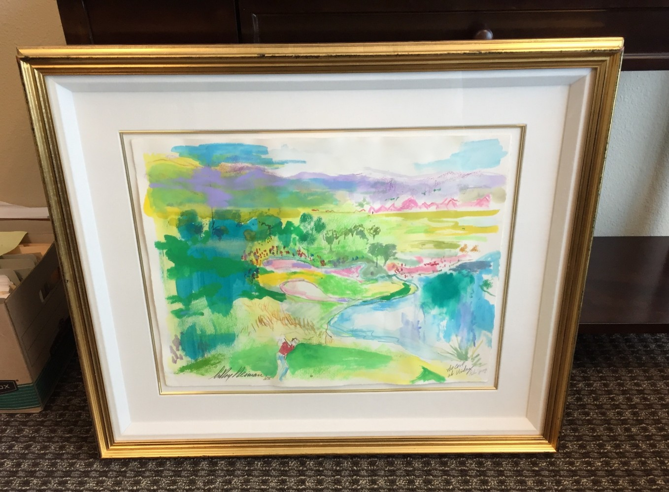 Cove At Vintage Palm Springs Watercolor 1985 28x33